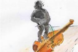 Pipi dans un violon
